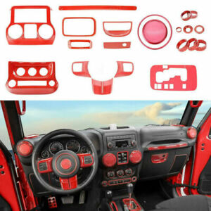 Full Set Interior Accessories Decorative Trim Kit For Jeep Wrangler JK JKU 2011+