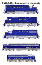 Wabash Blue-era Locomotives 5 magnets by Andy Fletcher