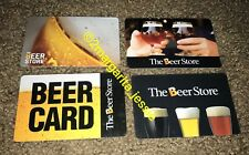THE BEER STORE GIFT CARD QTY 4 NO VALUE COLLECTIBLE CANADA NEW