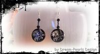 ♥ Dream-Pearls Design Ohrringe Perlmutt schwarz filigran Flower silber ♥ OH072