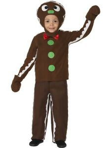 Childs Little Gingerbread Man Fancy Dress Costume Age 7-9 Years