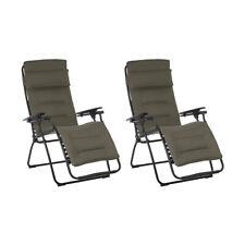 Lafuma Futura Air Comfort Zero Gravity Outdoor Recliner Chair, Taupe (2 Pack)