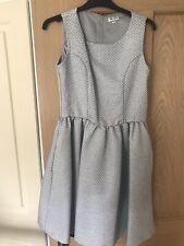 Genuine Kenzo Niñas Vestido de Jacquard de Plata, Edad 16