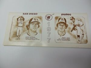 1977 SAN DIEGO PADRES MLB BASEBALL OFFICIAL MEDIA GUIDE ROSTER BOOK RARE
