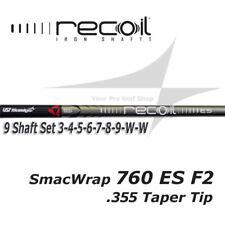9 Shaft Set 3-SW UST Recoil 760 ES SmacWrap IP F2 A Flex Irons .355 Taper Tip