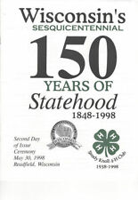 #3206 FD 2nd Day Program 32c Wisconsin Statehood