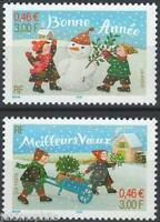 Y&T n° 3437-3438 Meilleurs voeux + bonne année 2001 NEUF**