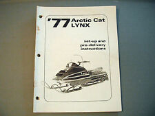 1977 Vintage Arctic Cat Lynx Dealer Setup Manual