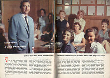 1960 Tv Guide Article~Singing Tv Commercials~John Guedel~Bireleys Orange Juice