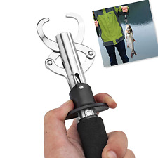 Portable Fish Fishing Lip Grip Gripper w/ 15kg/30lb Weigh Scale Hanging Scale