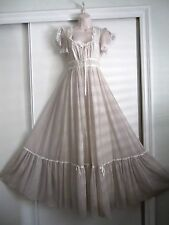 VTG GUNNE SAX VOILE FESTIVAL,PRARIE, MAXI DRESS - ROSES~ PEEK A BOO SLEEVES~SZ.9