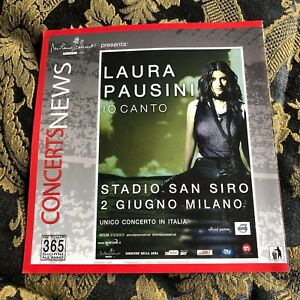 LAURA PAUSINI flyer apribile San Siro Milano