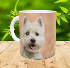 West Highland White Terrier, Westie.. gift mug with painted westie