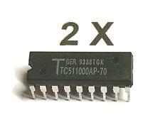 2 X Tc511000ap 70 1mb X 1 Cmos Dynamic Random Access Memory 70ns 5v 80ma Dip18 2 Piece