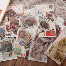 40pcs Vintage Retro Paper Stickers Diy Scrapbooking Junk Journal Sticker Crafts