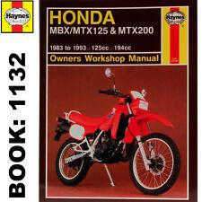 Honda MBX125F MTX125RW MTX200RW 1983-93 Haynes Workshop Manual