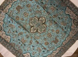 Persian Paisly Termeh Tablecloth Handmade Woven, Tapestry 100cmx100cm N003