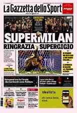 GAZZETTA DELLO SPORT 24/12/2016 MILAN-JUVENTUS FC 5-4 dcr SUPERCOPPA DOHA