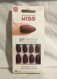 KISS Gel Fantasy Nails 60672 KGN10 Whatever Red Damaged Box New Product