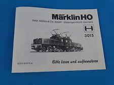 Marklin 3015 Krokodil  Replica booklet