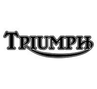 2 x BLACK - TRIUMPH - Motorbike Petrol Tank Decal Stickers