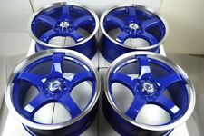 17 blue Wheels Civic Prius C Cobalt Accord MR2 Cooper Corolla 4x100 4x114.3 Rims