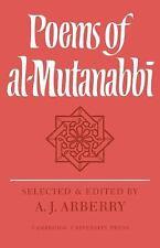 Poems of Al-Mutanabbi (Paperback or Softback)