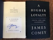 HAND-SIGNED! James Comey 'A Higher Loyalty' 1/1 + extra! RARE!