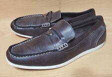 Apt 9 Mens Loafer Slip On Brown Shoes Size 9.5 M