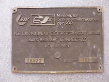 Original Fabrikschild LEW Grubenlok