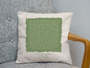 Ben Folds 'The Luckiest' Personalised Cushion 2nd Cotton Anniversary Gift Wife