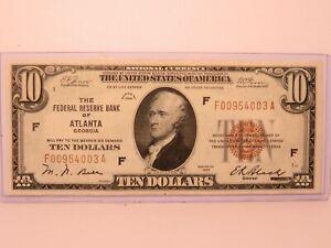 $10 1929 Tampa Bay Florida FL National Currency Bank Note Bill GEM/UNC!!