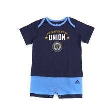 "Philadelphia Union MLS Adidas Infant Navy Blue ""Little Kit"" Short Sleeve Romper"