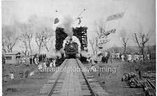 "Photo 1903 Seoul, South Korea ""Celebrating 1st Train Crossing Japanese Bridge"""