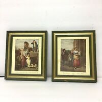 "Vintage Cries of London Pictures Set of 2. Hope Picture Frame Company 5.5""X6.5"""