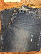 Lane Bryant Women's Denim Jeans Distressed Size 26 Inseam 28 inch 100% cotton