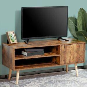 Mobile TV Porta Televidore Legno 2 Ripiani + Anta Design Moderno Industriale