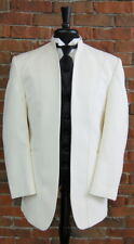 Mens 41 R Ivory Illusion by Calvin Michaels Mandarin Neru Collar Tuxedo Jacket