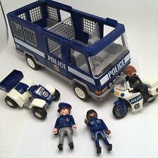 Playmobil Police. Police Quadbike, Van Motorbike with figures Not Complete