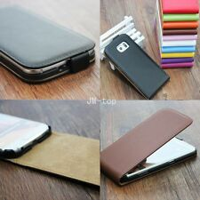 For Nokia Lumia Genuine Real Leather Phone Flip Skin Case Cover