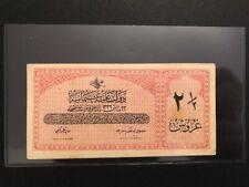 Türkei Osmanischen Alte Geldnote 2 1/2 Kurus 1332 V.Mehmed Turkey, Turquie