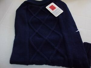 Navy Blue CABLE Knit Dog Sweater new pet L Top Paw puppy Large