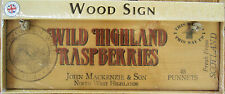 New WILD HIGHLAND RASPBERRIES wood shabby chic advertising sign 45x15cm,18x6""