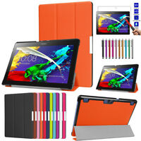 Leather Flip Smart Magnetic Tablet Case Cover For Lenovo Tab 2 A10-70F A10-70LC
