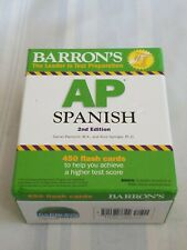 Barron's AP Spanish Flash Cards by Alice G. Springer and Daniel Paolicchi 2nd Ed