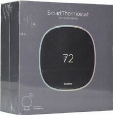 ecobee - Smart Thermostat with Voice Control - Black Model:EB-STATE5-01