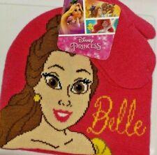 "Kids Knit Beanie & Gloves Set - ""Princess Belle"" - New with Tags"