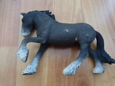 """5"""" SCHLEICH RETIRED 2012 FARM WORLD SHIRE STALLION 13734 HORSE FIGURE"""