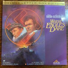 Laser Disc ~ Where Eagles Dare ~ Richard Burton ~ Clint Eastwood