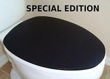 Shiny Lid Cover toilet SEAT Bright Black for Standard & Elongated - HandMade USA